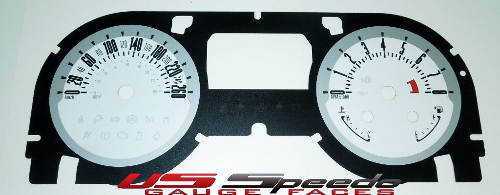 Daytona Edition Custom Gauge Face for 2013-2014 Ford Mustang Gas