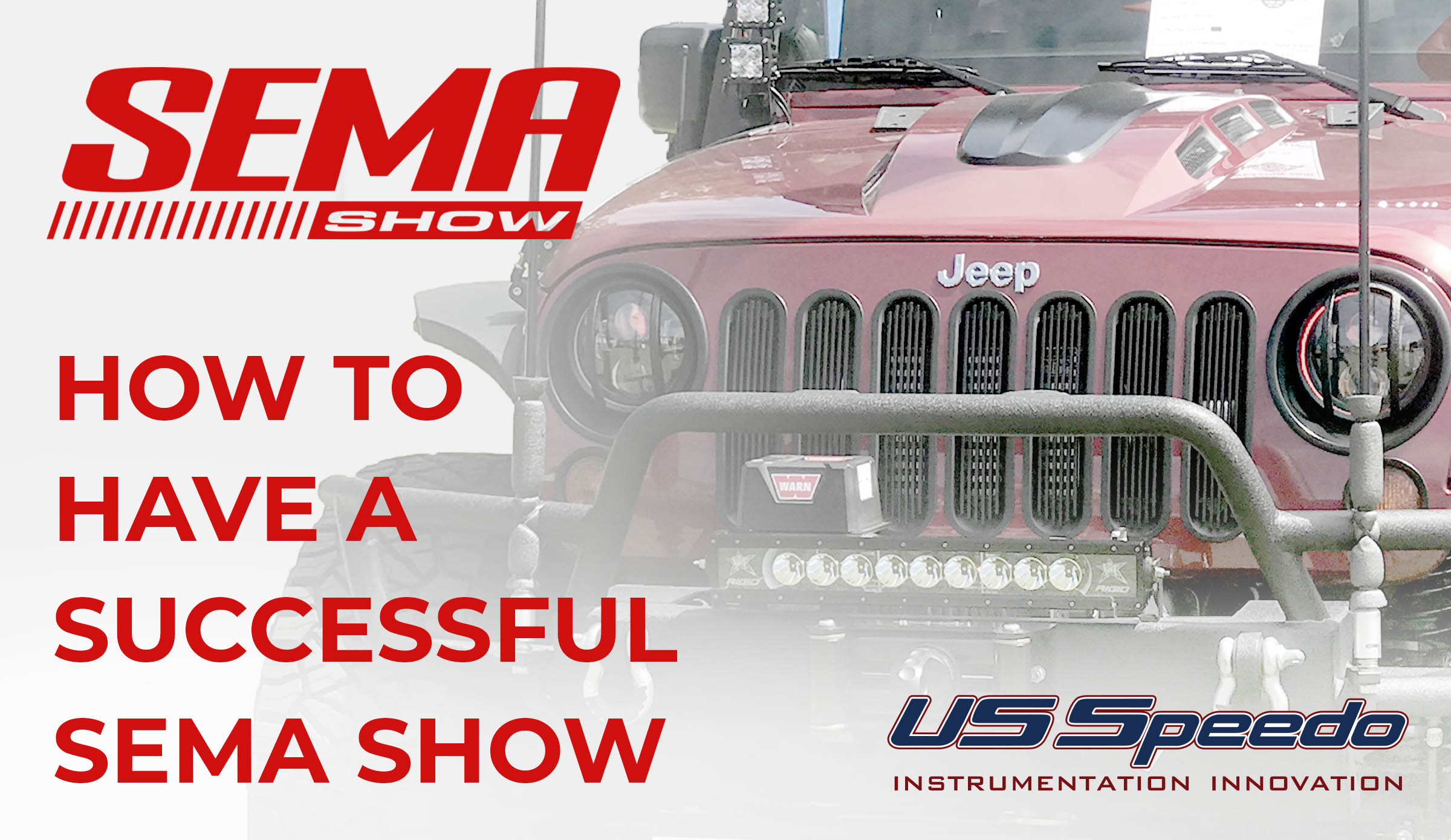 SEMA Show! What it takes to have a successful show!