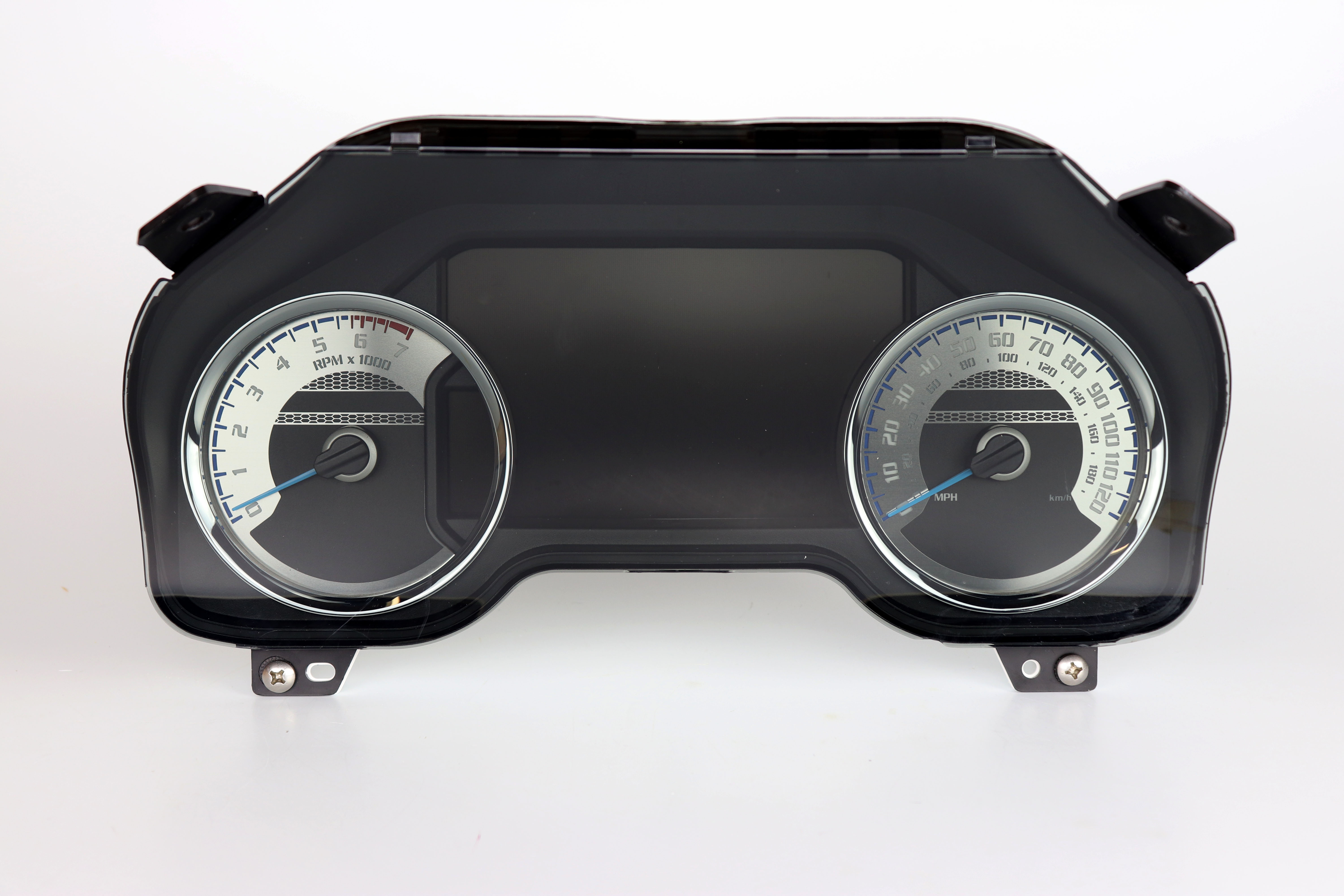 Stainless Edition Custom Gauge Face for 2015-2019 Ford F150 Gas
