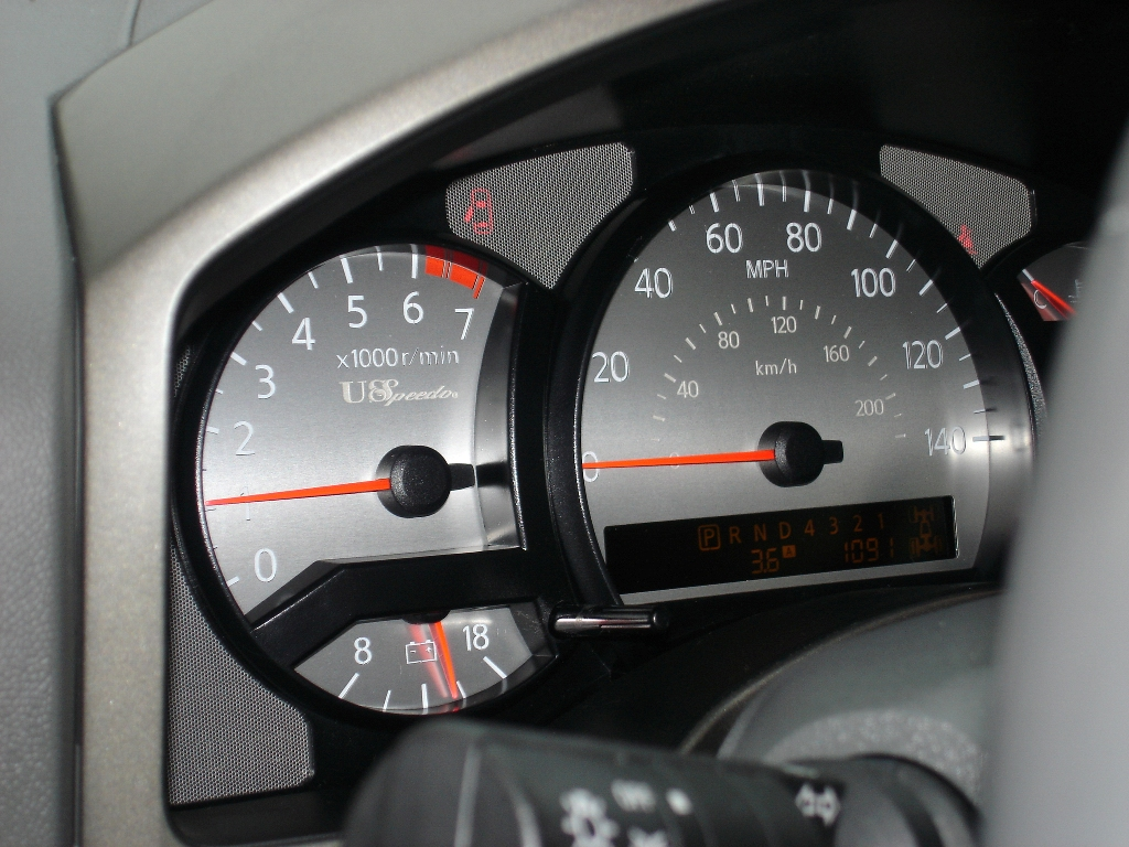 Stainless Edition Custom Gauge Face for 2004-2007 Nissan Titan Gas