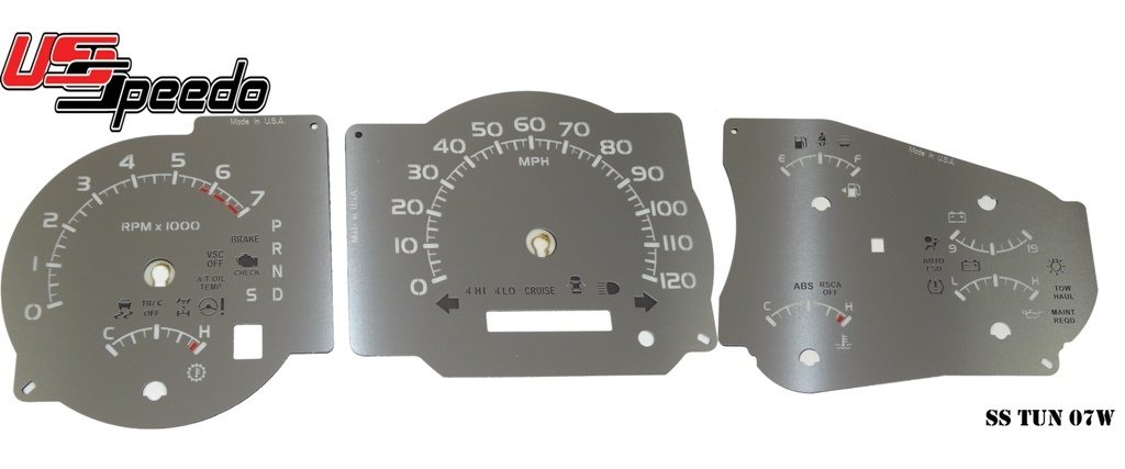 Stainless Edition Custom Gauge Face For 2007