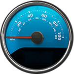 Aqua Edition Custom Speedometer Gauge Face