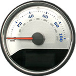 Stainless Edition Custom Speedometer Gauge Face