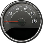 Stealth Edition Custom Speedometer Gauge Face